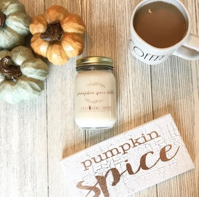 cozy home customer photo pumpkin spice